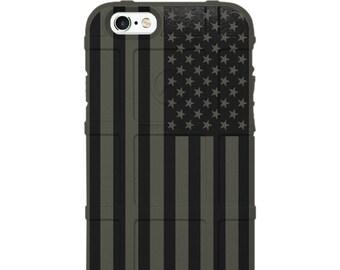 CUSTOM PRINTED Limited Edition -  Subdued Black Printed US Flag -uso