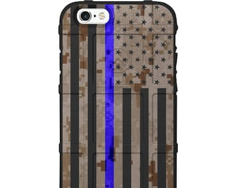 CUSTOM PRINTED Limited Edition Authentic Made in U.S.A. Magpul Industries Field Case, US Flag Desert Digi Camo Thin Blue Line Police ddcusap