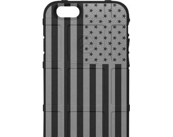 CUSTOM PRINTED Limited Edition -  US Flag Subdued Grey Print (ugo)