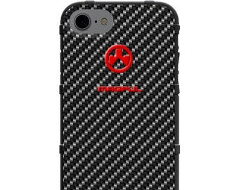 CUSTOM PRINTED Limited Edition - Authentic Made in U.S.A. Magpul Industries Field Case, Black Carbon Fiber Pattern Print (bcf)