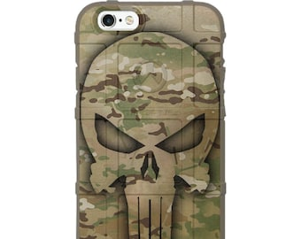 Custom Printed Limited Edition - Authentic Made in U.S.A. Magpul Industries Field Case, Ghost Punisher on US Military OCP Camouflage