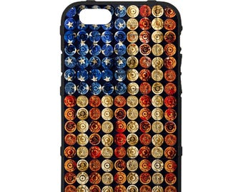 CUSTOM PRINTED Limited Edition - Authentic Made in U.S.A. Magpul Field Case, 4th of July American Freedom Bullets, Shotgun Shells U.S. Flag