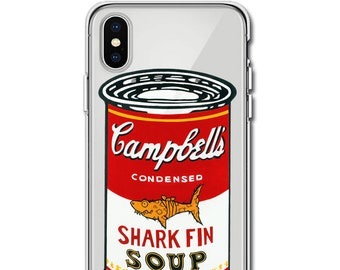 "Jason Maloney Art Series: ""Shark Fin Soup"" JAWZ! Assorted Soup Can Colors Design Limited Edition Custom UV-Printed Smartphone Case"