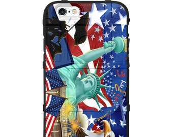 CUSTOM PRINTED Limited Edition - 4th of July 2018 American Freedom & Lady Liberty Collage Case