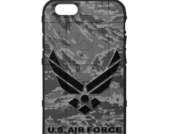 Custom Printed Limited Edition - Authentic Made in U.S.A. Magpul Industries Field Case, Air Force Subdued Logo, on Subdued ABU Camouflage