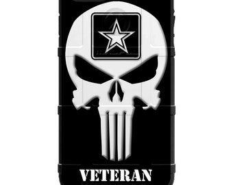 Veterans Day 2018 - Army, Navy, Air Force, Marines, Coast Guard, National Guard, Veteran Punisher Design - Printed on Magpul, Pelican or UAG