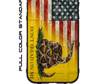 CUSTOM PRINTED Limited Edition Don't Tread on Me Flag on US Camo Flag