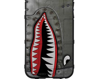 CUSTOM PRINTED Limited Edition - Authentic Made in U.S.A. Magpul Industries Field Case, P-40 TigerShark Jaws Teeth Warthog -A100