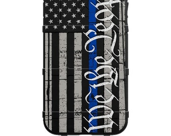 CUSTOM PRINTED Limited Edition - Authentic Made in U.S.A. Magpul Industries Field Case We the People Thin Blue Line Assaulting Subdued Flag