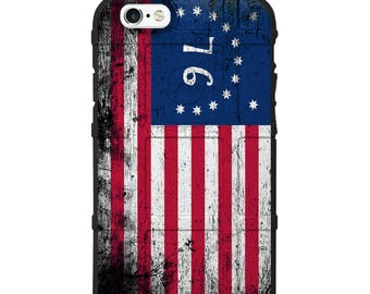 CUSTOM PRINTED Limited Edition - Authentic Made in U.S.A. Magpul Industries Field Case, 76 US Flag, Tattered Flag (US76)