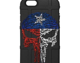 CUSTOM PRINTED Limited Edition - Texas Flag, Rifles & Guns Punisher (bpgtex)