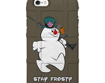 "Authentic Made in the USA Magpul Industries Special XMAS 2017 Limited Edition ""Stay Frosty"" Snowman Custom Printed Design by EGO Tactical™"