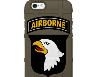 Custom Printed, Limited Edition - Authentic Made in U.S.A. Magpul Industries Field or Bump Case, U.S. Army 101st Airborne Division Patch