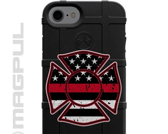 CUSTOM PRINTED Limited Edition Authentic Made in U.S.A. Firefighter Distressed Black American Flag Thin Red Line Fireman Maltese Cross