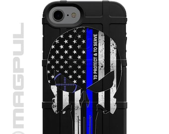 CUSTOM PRINTED Limited Edition - Authentic Made in U.S.A. Subdued Thin Blue Line 50-Star US Flag To Protect and To Serve Punisher