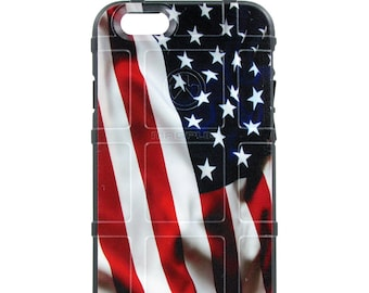 CUSTOM PRINTED Limited Edition - Authentic Made in U.S.A. Magpul Industries Field Case USA Flag Waving 4th of July (usw)