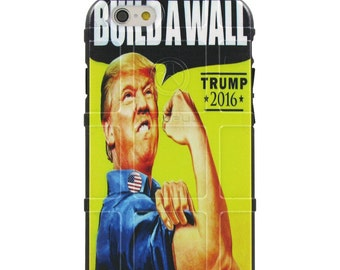 "Custom Printed Limited Edition - Authentic Made in U.S.A. Magpul Industries Field Case, Donald Trump ""Build A Wall"" Rosie the Riveter Parity"