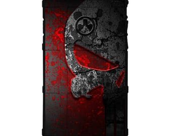 CUSTOM PRINTED Limited Edition - Authentic Made in U.S.A. Magpul Industries Field Case, Bloody Grey Punisher (bbpn2)
