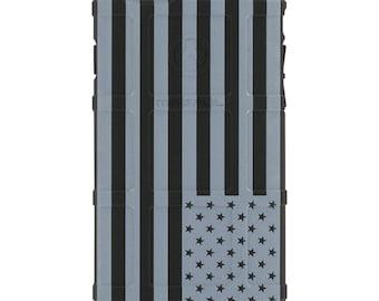CUSTOM PRINTED Limited Edition -  U.S. Flag Subdued Reversed, White Print