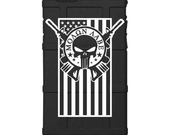 CUSTOM PRINTED Limited Edition - Authentic Made in U.S.A. Magpul Industries Field Case, Molon Labe, Come and Take Em'