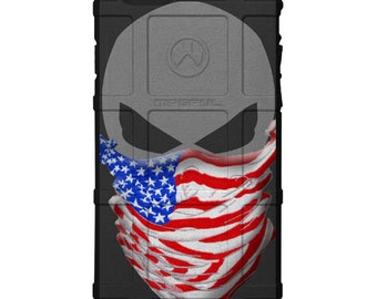 CUSTOM PRINTED Limited Edition - Authentic Made in U.S.A. Magpul Industries Field Case, Bandanna Flag Punisher Case Color or Subdued