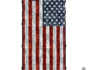CUSTOM PRINTED Limited Edition - Authentic Made in U.S.A. Magpul Industries Field Case, US Flag Desert Digital Camouflage