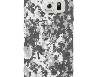 CUSTOM PRINTED Limited Edition - Authentic Made in U.S.A. Magpul Industries Field or Bump Case, White Digital Camouflage