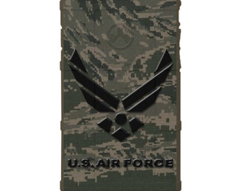 Custom Printed Limited Edition - Authentic Made in U.S.A. Magpul Industries Field Case, Air Force Subdued Logo, on ABU Digital Camouflage