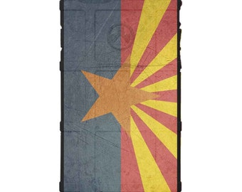 CUSTOM PRINTED Limited Edition - Authentic Made in U.S.A. Magpul Industries Field Case, Weathered Arizona Flag