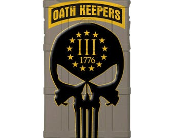 CUSTOM PRINTED Limited Edition -  Oath Keepers 3%, 13 Stars, 1776 Punisher