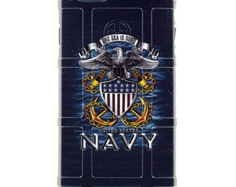 "CUSTOM PRINTED Limited Edition - Authentic Made in U.S.A. Magpul Industries Field Case, US Navy ""The Sea is Ours."""