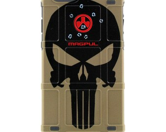 CUSTOM PRINTED Limited Edition - Authentic Made in U.S.A. Magpul Industries Field or Bump Case, Headshot Harry, Black Punisher