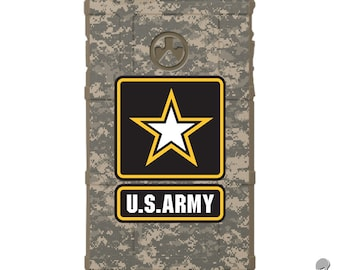 Custom Printed Limited Edition - Authentic Made in U.S.A. Magpul Industries Field Case, Black Subdued US Army Logo, ACU Digital Camouflage