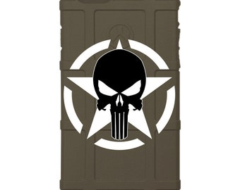 CUSTOM PRINTED Limited Edition - Authentic Made in U.S.A. Magpul Industries Field or Bump Case, U.S. Army Star Punisher