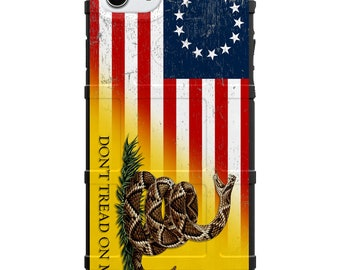 Limited Edition - Authentic Made in U.S.A. Magpul Industries Field Case, 13 star US Flag, Betsy Ross Tattered Flag Gadsden Flag Don't Tread