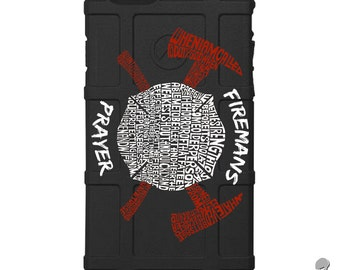 CUSTOM PRINTED Limited Edition - Authentic Made in U.S.A. Magpul Industries Field Case, Fireman's Prayer