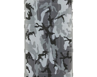 CUSTOM PRINTED Limited Edition - Authentic Made in U.S.A. Magpul Industries Field or Bump Case, Black & White Urban Camouflage