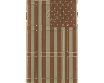 CUSTOM PRINTED Limited Edition - Authentic Made in U.S.A. Magpul Industries Field Case, US Flag Desert Subdued on Field Dark Earth