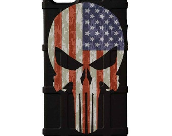 CUSTOM PRINTED Limited Edition - Authentic Made in U.S.A. Magpul Industries Field or Bump Case, Punisher US Flag Desert Digi Camo -bpu