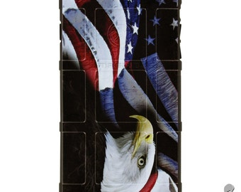 CUSTOM PRINTED Limited Edition - Authentic Made in U.S.A. Magpul Industries Field or Bump Case, US Flag Bald Eagle