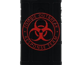 CUSTOM PRINTED Limited Edition - Authentic Made in U.S.A. Magpul Industries Field or Bump Case, Zombie Outbreak Response Team