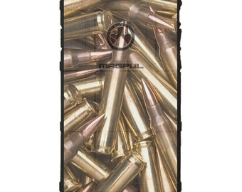 CUSTOM PRINTED Limited Edition - Authentic Made in U.S.A. Magpul Industries Field or Bump Case, Magpul Brass Rifle Bullets .556 .223 bullets