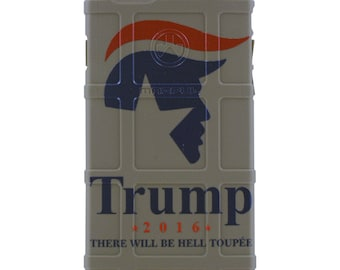 "Custom Printed Limited Edition - Authentic Made in U.S.A. Magpul Industries Field Case, Donald Trump 2016 ""There Will Be Hell Toupee"" Case"