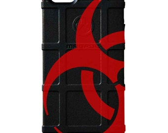 CUSTOM PRINTED Limited Edition - Authentic Made in U.S.A. Magpul Industries Field or Bump Case, Biohazard