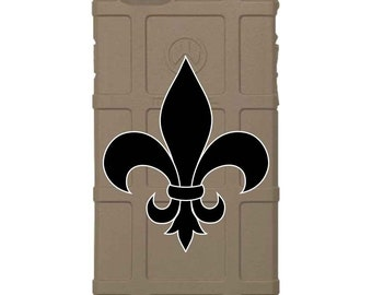 CUSTOM PRINTED Limited Edition - Authentic Made in U.S.A. Magpul Industries Field or Bump Case, Fleur De Lis