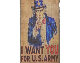 CUSTOM PRINTED Limited Edition - Authentic Made in U.S.A. Magpul Industries Field Case, Uncle Sam, I Want You for U.S. Army War Poster