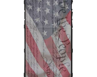 CUSTOM PRINTED Limited Edition - Authentic Made in U.S.A. Magpul Industries Field or Bump Case, We The People, Constitution Flag