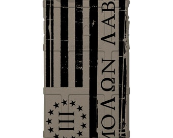 Custom Printed Limited Edition - Magpul Field Case or UAG, 3 Percenter, Oathkeepers, US Flag Molan Labe, Come and Take Subdued Flag -US3ML