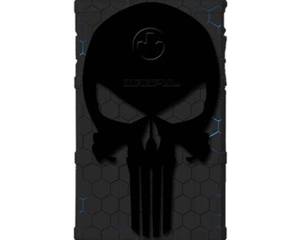 CUSTOM PRINTED Limited Edition - Authentic Made in U.S.A. Magpul Industries Field or Bump Case, Black Hex Tron Punisher