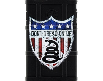 CUSTOM PRINTED Limited Edition - Authentic Made in U.S.A. Magpul Industries Field Case, Dont Tread on Me Shield -dont2